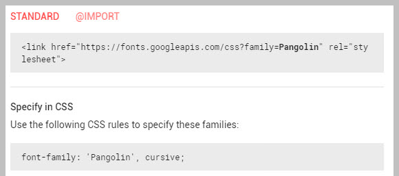 Embedding Google Fonts