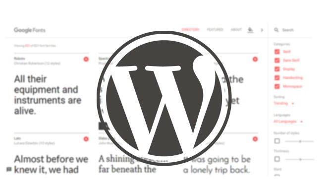 How To Use Downloaded Google Fonts in WordPress