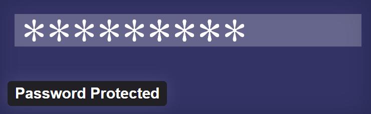 Password Protected Plugin By Ben Huson