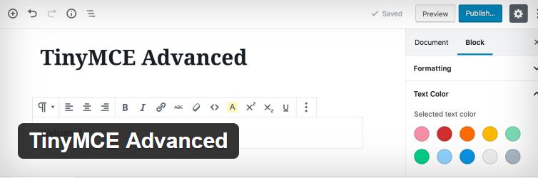 TinyMCE Advanced Plugin By Andrew Ozz
