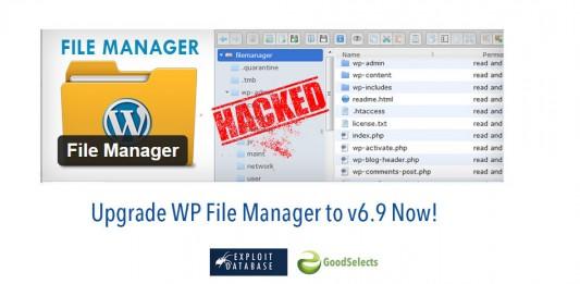 Vulnerable WordPress Plugin: WP File Manager v6.8