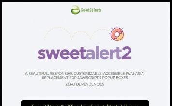 SweetAlerts2 - Nice JavaScript Alerts Library